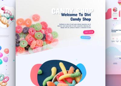 Šablona candy store