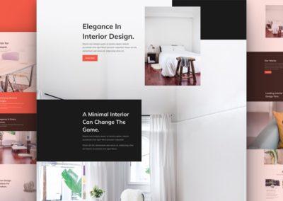 šablona interiéry a design